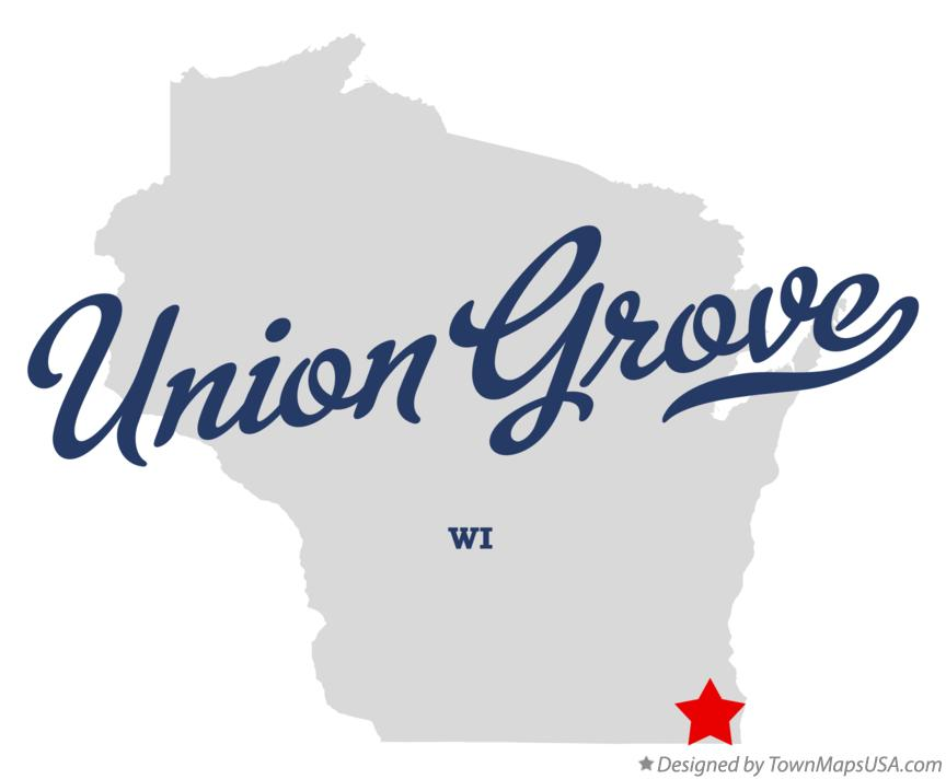 Map of Union Grove Wisconsin WI