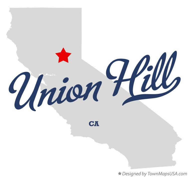 Map of Union Hill California CA