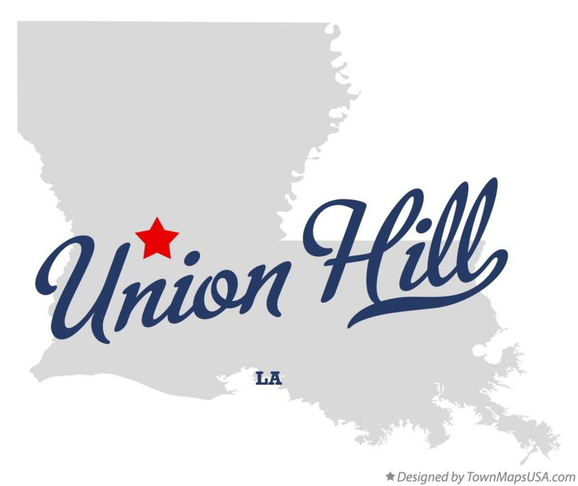 Map of Union Hill Louisiana LA