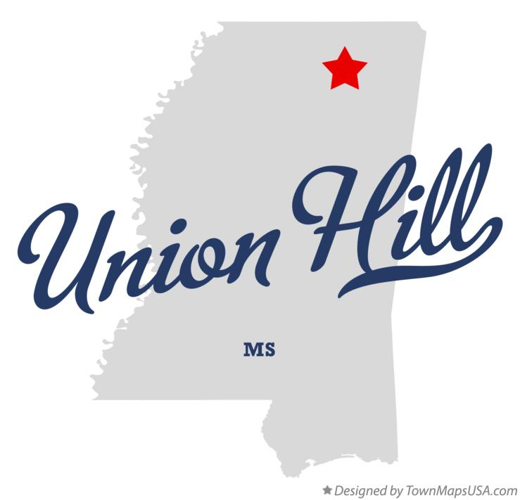 Map of Union Hill Mississippi MS