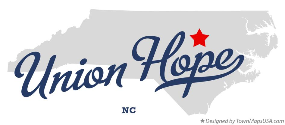 Map of Union Hope North Carolina NC