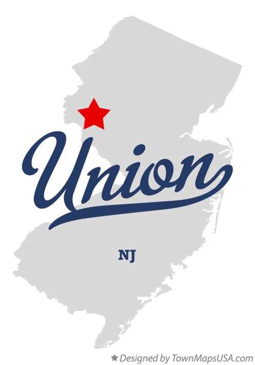 Map of Union New Jersey NJ