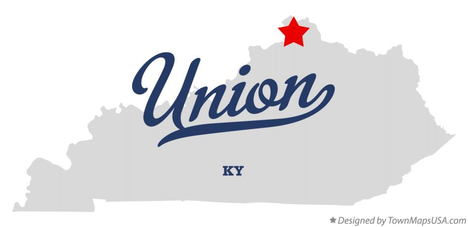 Map of Union Kentucky KY