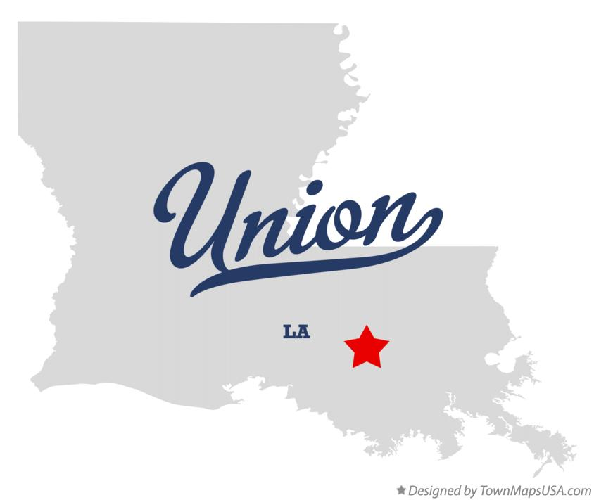 Map of Union Louisiana LA