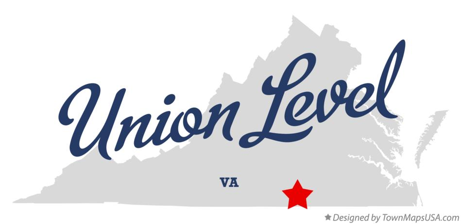 Map of Union Level Virginia VA