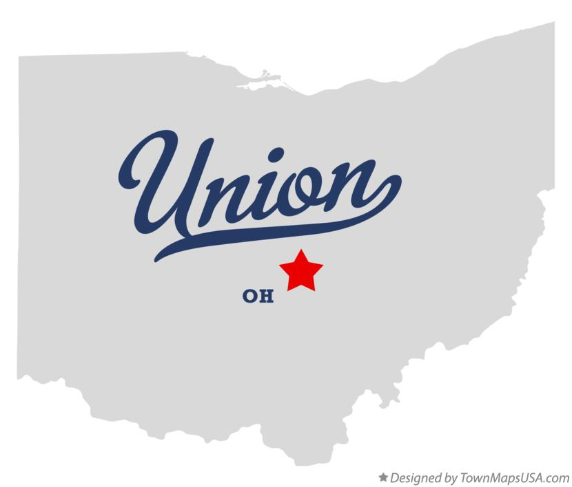Map of Union Ohio OH