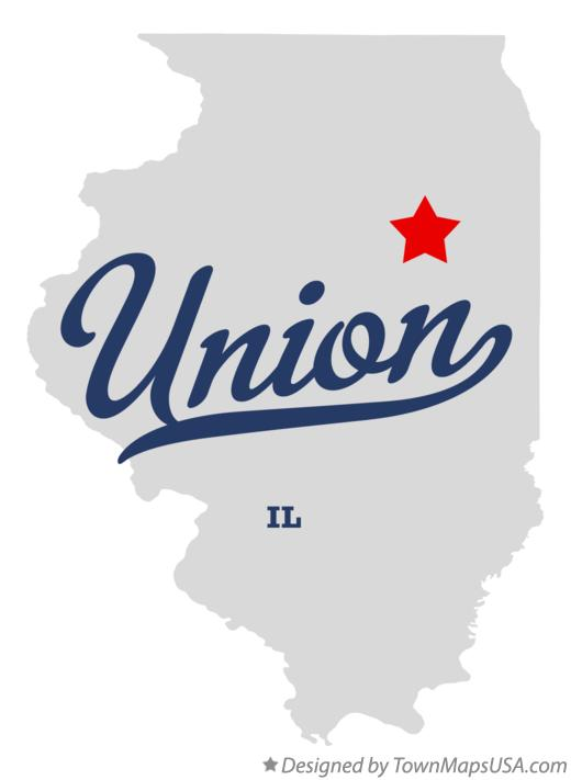 Map of Union Illinois IL