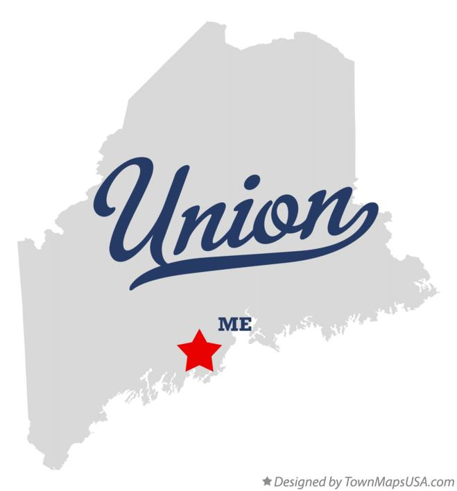 Map of Union Maine ME