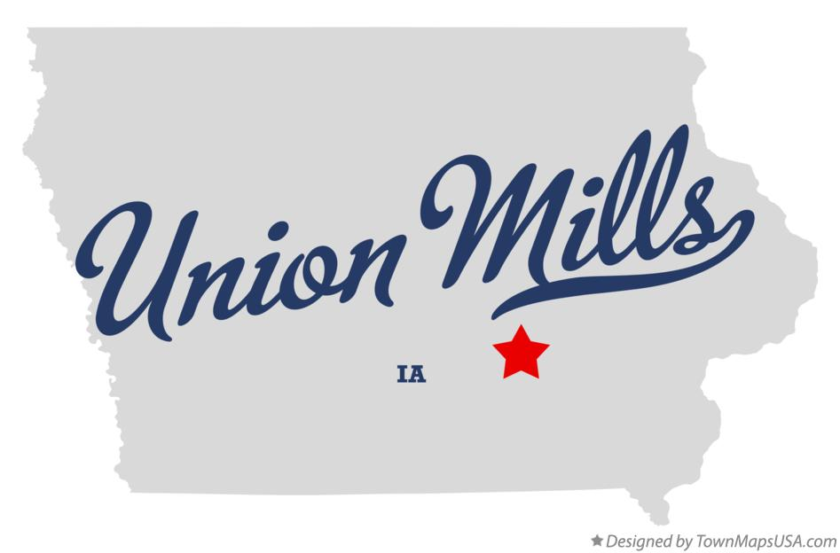 Map of Union Mills Iowa IA