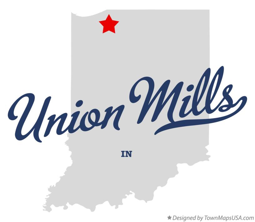 Map of Union Mills Indiana IN