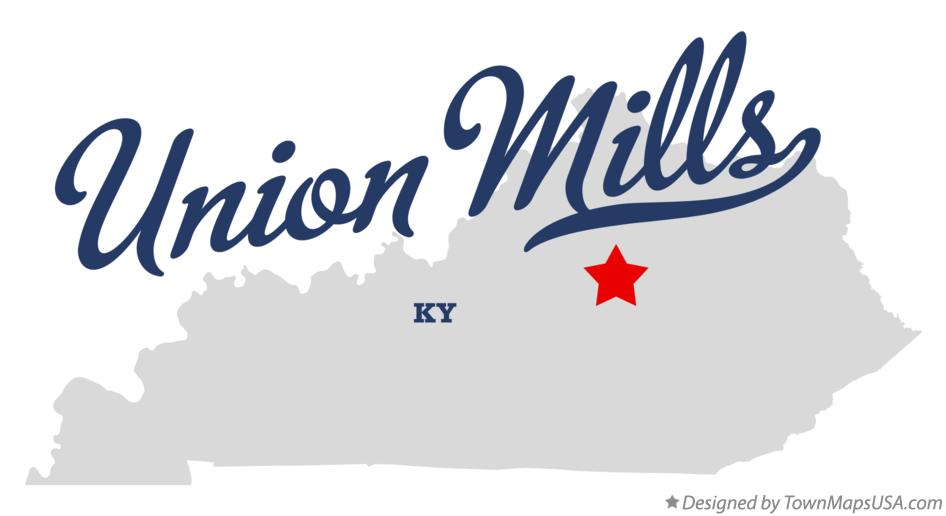 Map of Union Mills Kentucky KY