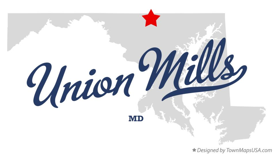 Map of Union Mills Maryland MD