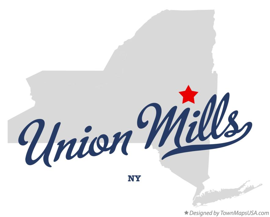 Map of Union Mills New York NY