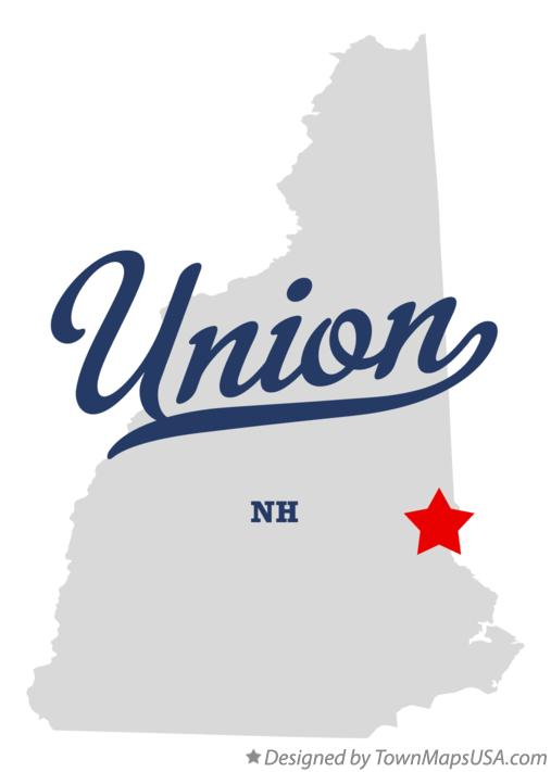 Map of Union New Hampshire NH