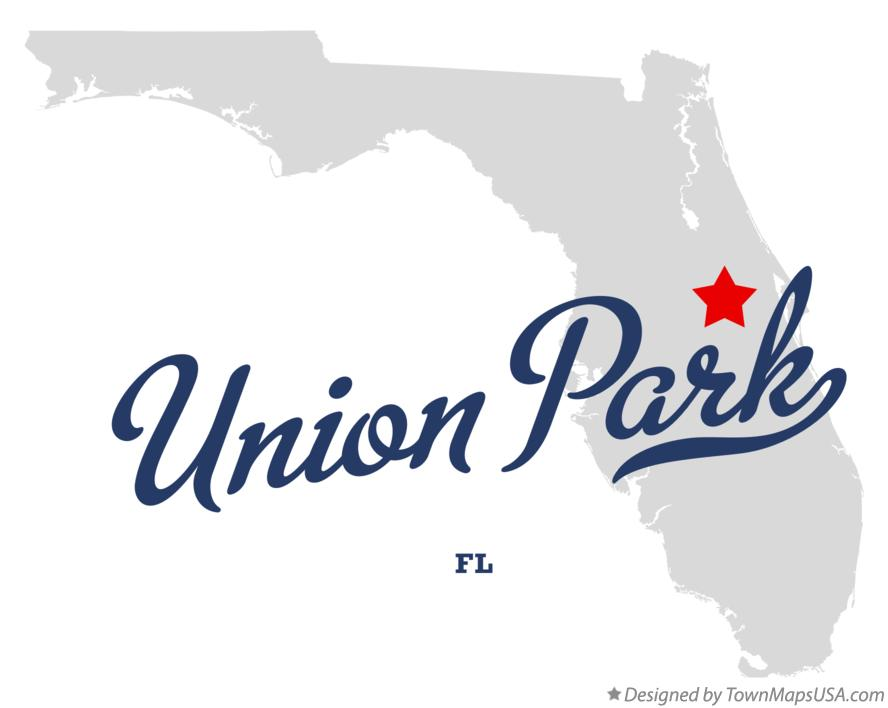 Map of Union Park Florida FL