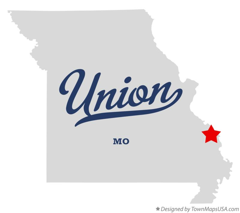 Map of Union Missouri MO