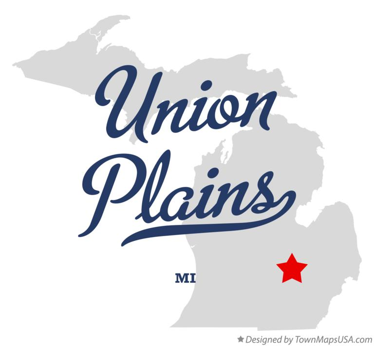 Map of Union Plains Michigan MI