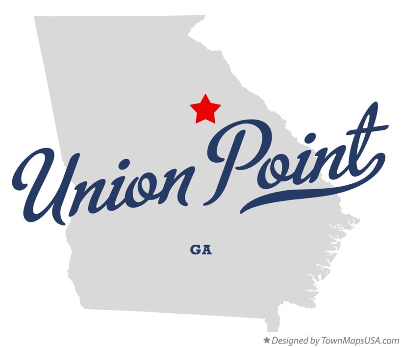 Map of Union Point Georgia GA
