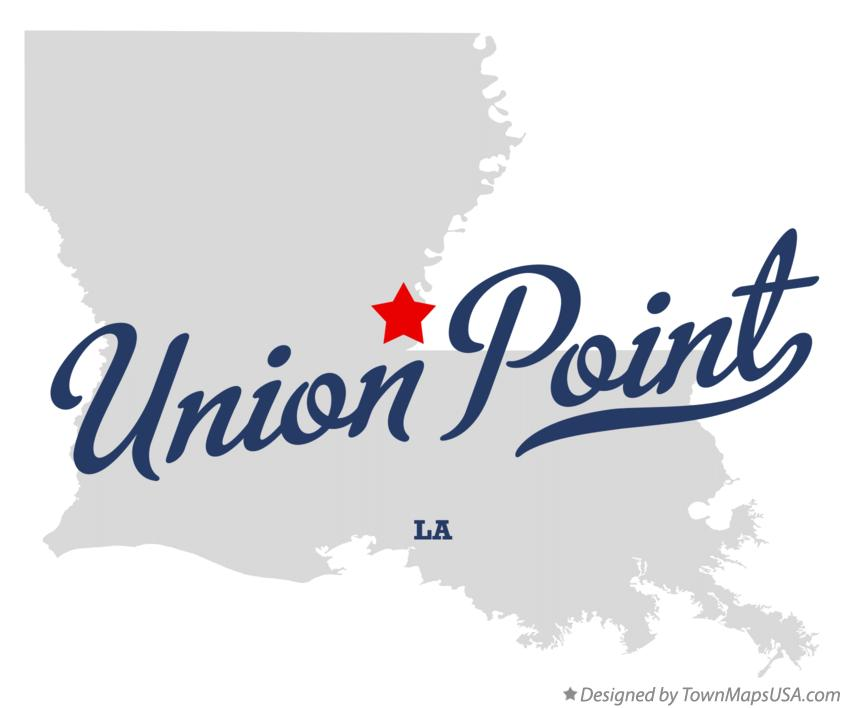 Map of Union Point Louisiana LA