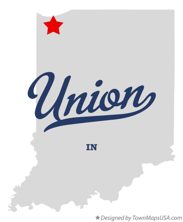 Map of Union Indiana IN