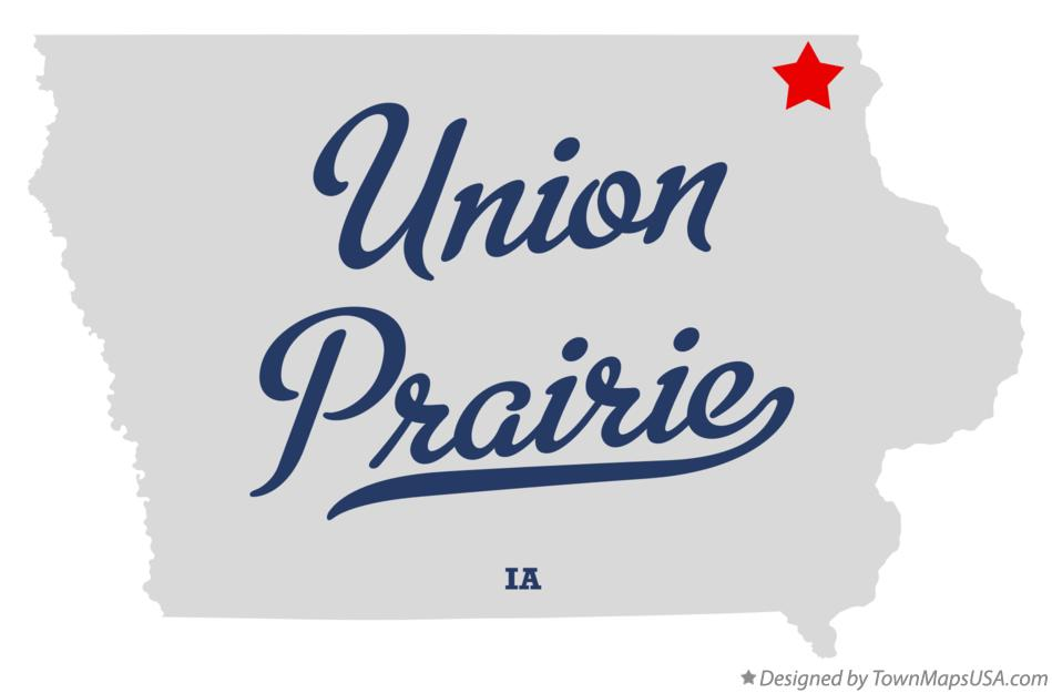 Map of Union Prairie Iowa IA