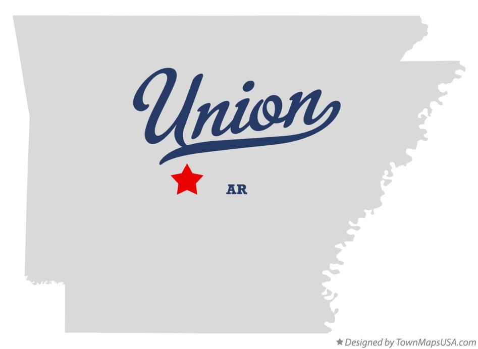 Map of Union Arkansas AR