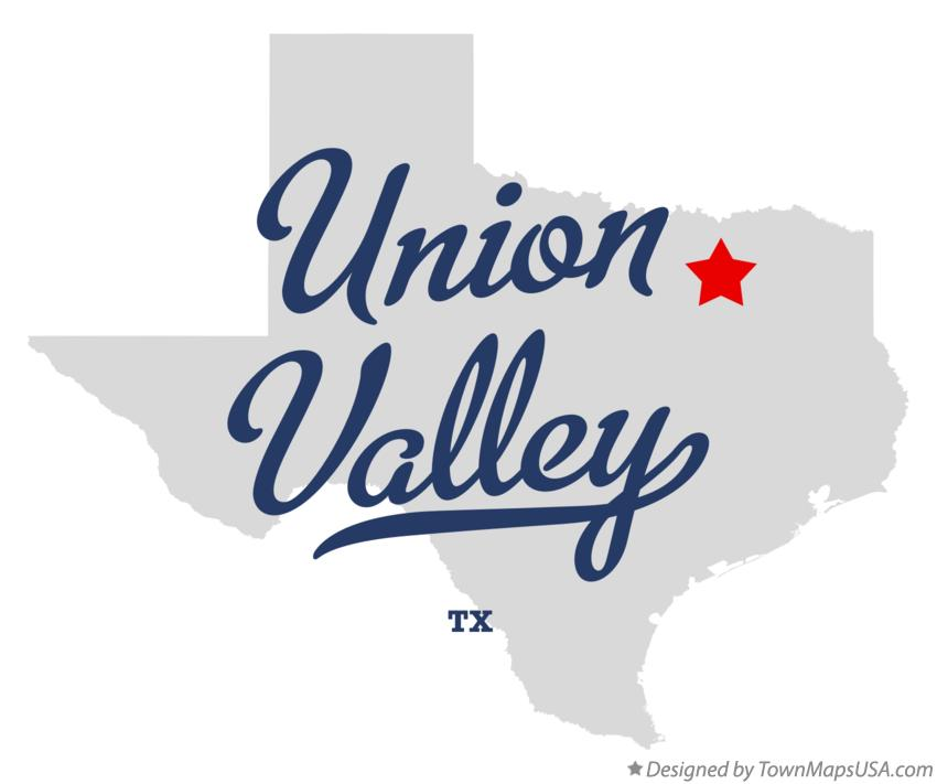 Map of Union Valley Texas TX