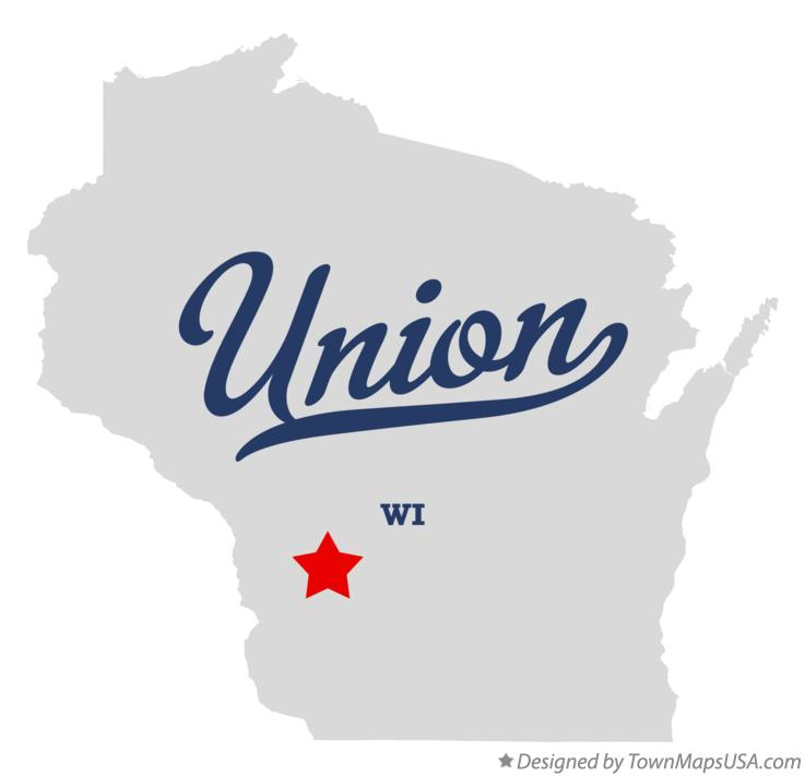 Map of Union Wisconsin WI