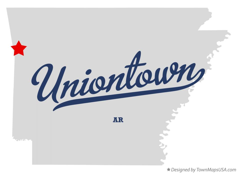 Map of Uniontown Arkansas AR