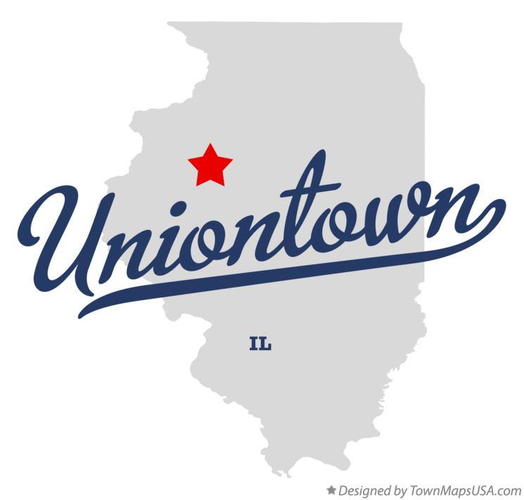 Map of Uniontown Illinois IL