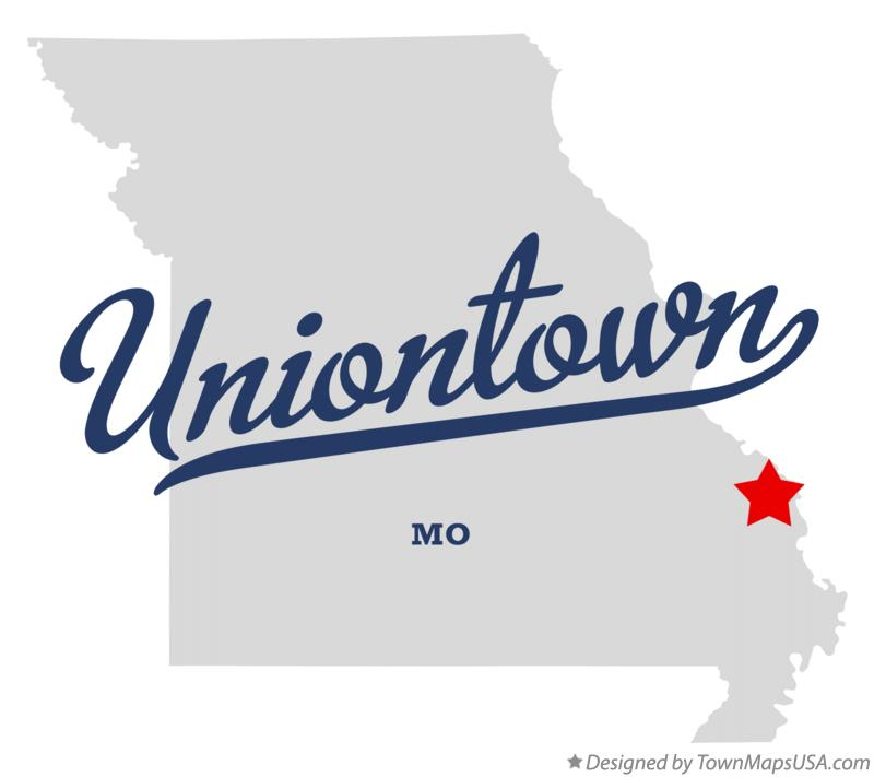 Map of Uniontown Missouri MO