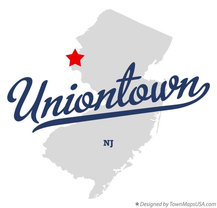 Map of Uniontown New Jersey NJ