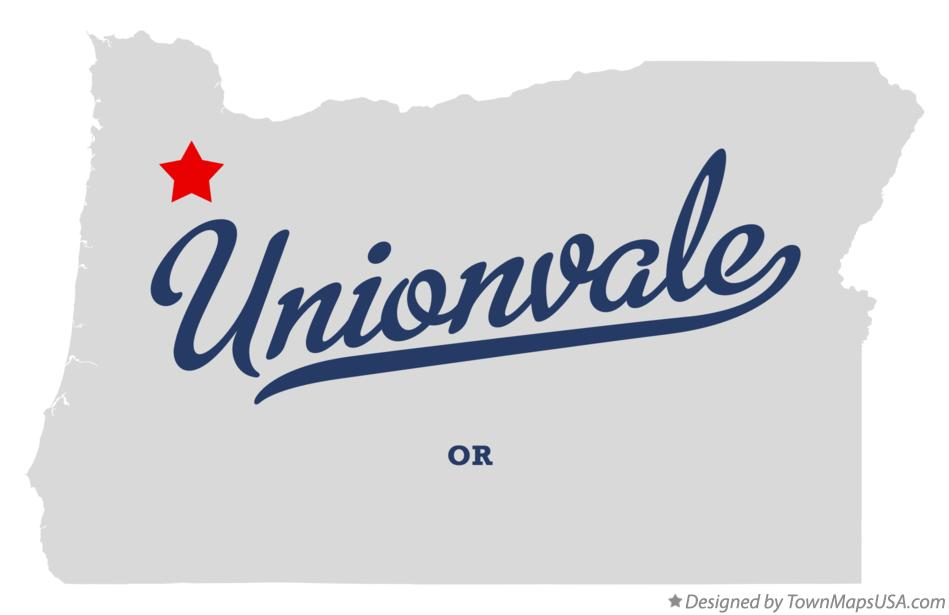 Map of Unionvale Oregon OR