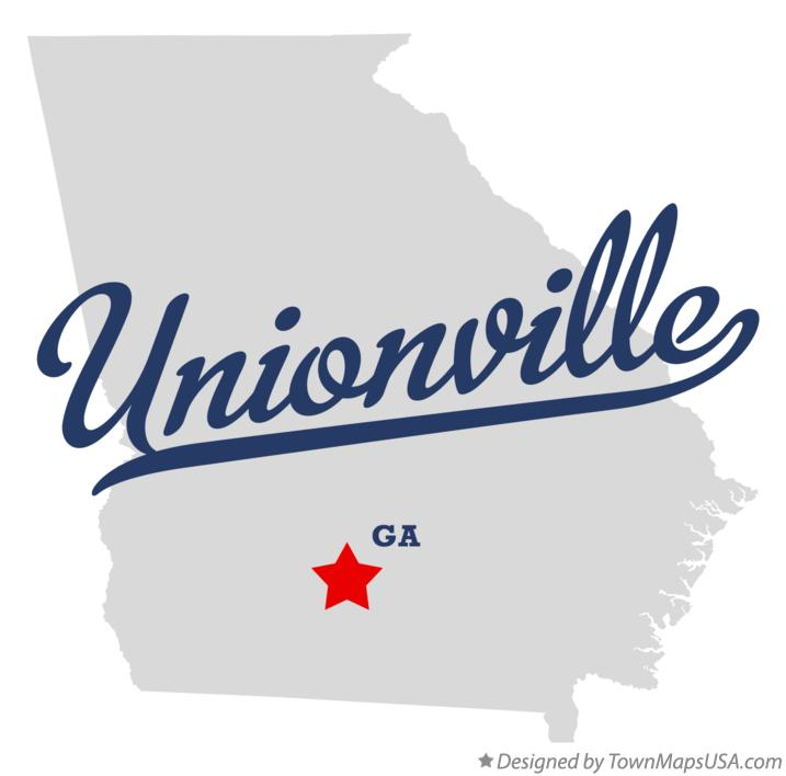 Map of Unionville Georgia GA