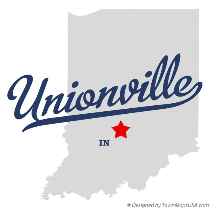 Map of Unionville Indiana IN