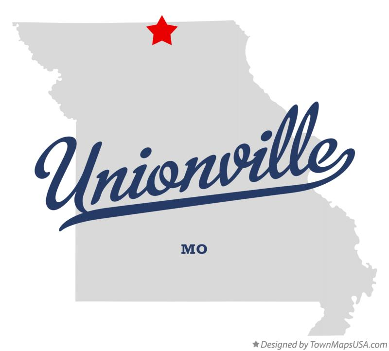 Map of Unionville Missouri MO