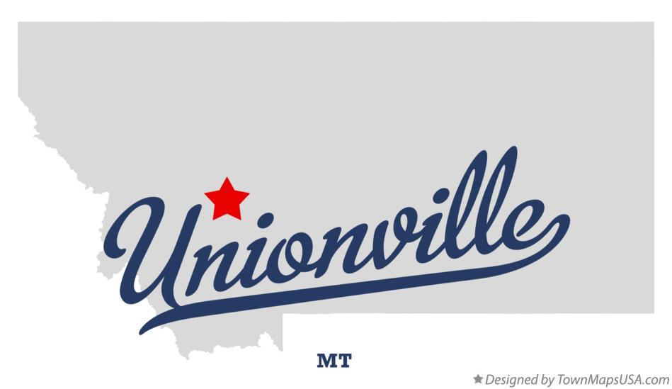 Map of Unionville Montana MT