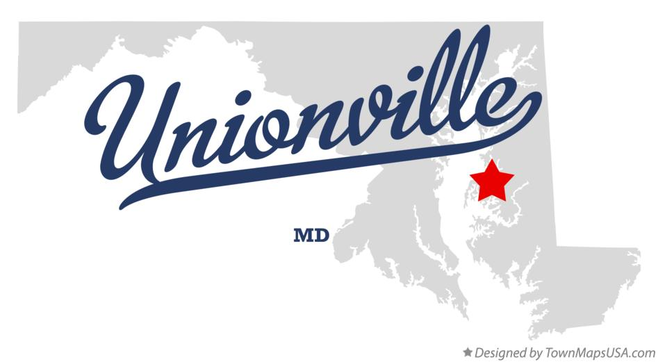 Map of Unionville Maryland MD