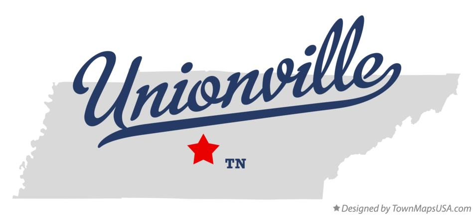 Map of Unionville Tennessee TN