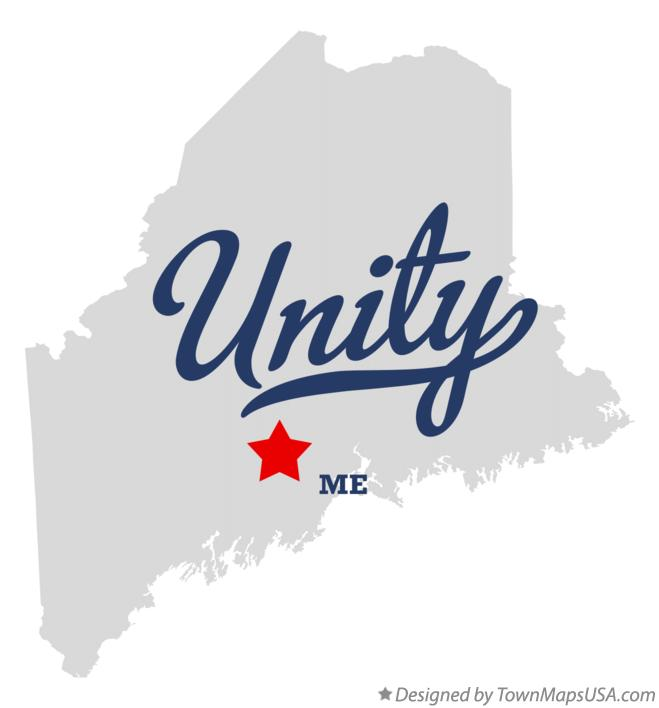 Map of Unity Maine ME