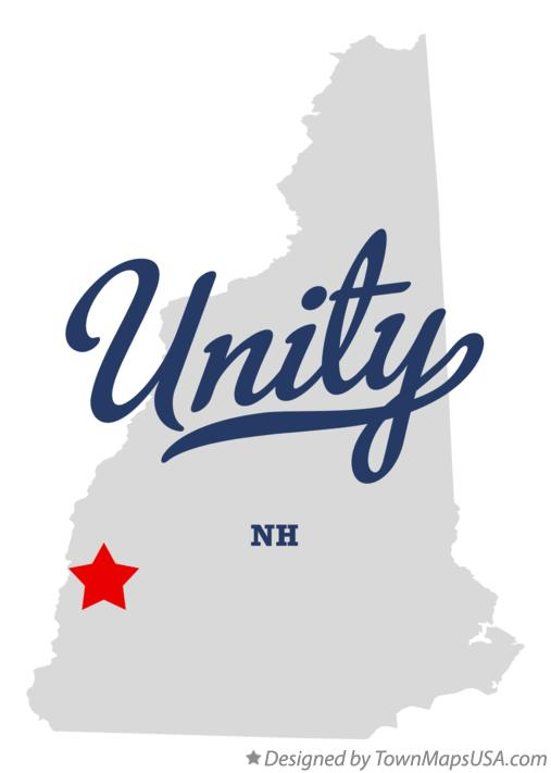 Map of Unity New Hampshire NH