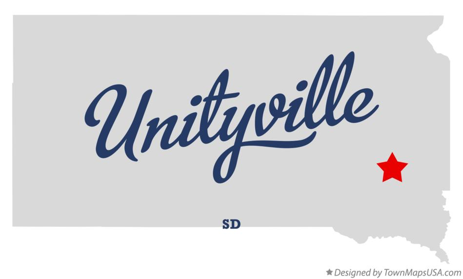 Map of Unityville South Dakota SD