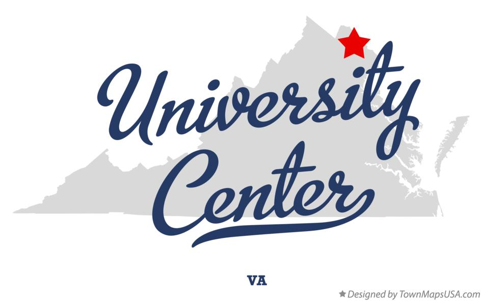 Map of University Center Virginia VA