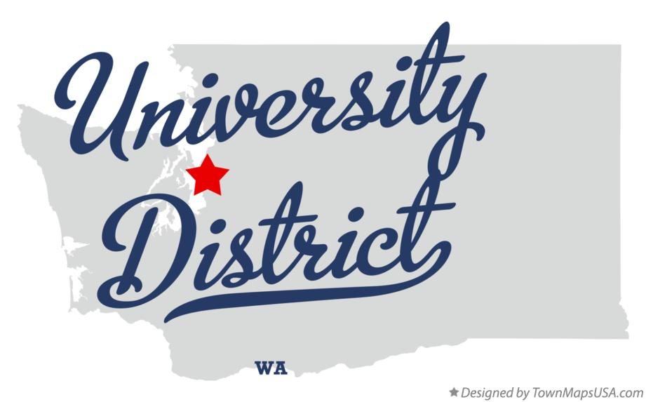 Map of University District Washington WA