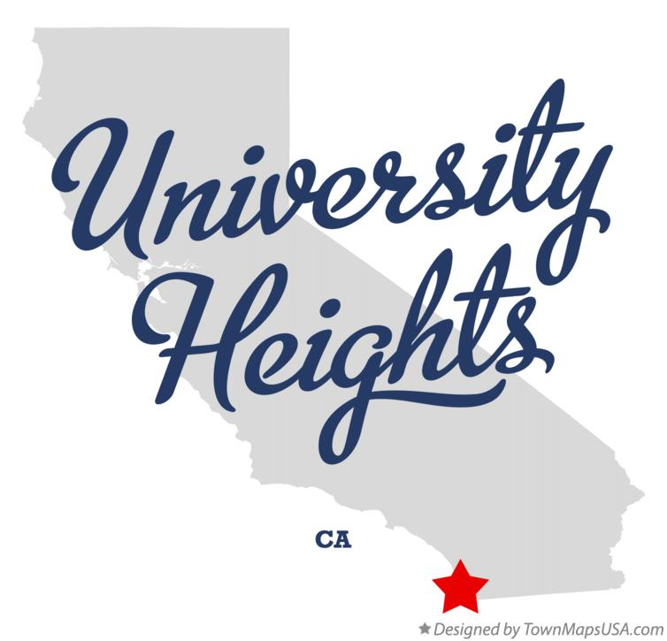Map of University Heights California CA
