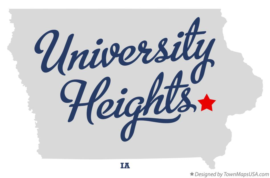 Map of University Heights Iowa IA