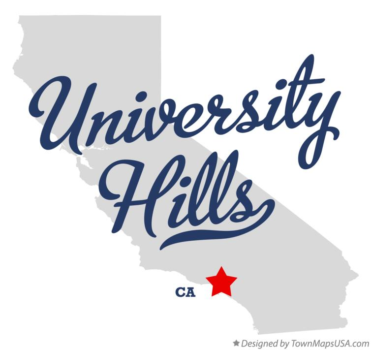 Map of University Hills California CA