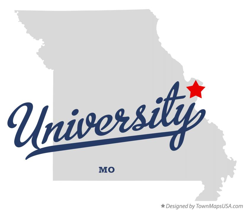 Map of University Missouri MO
