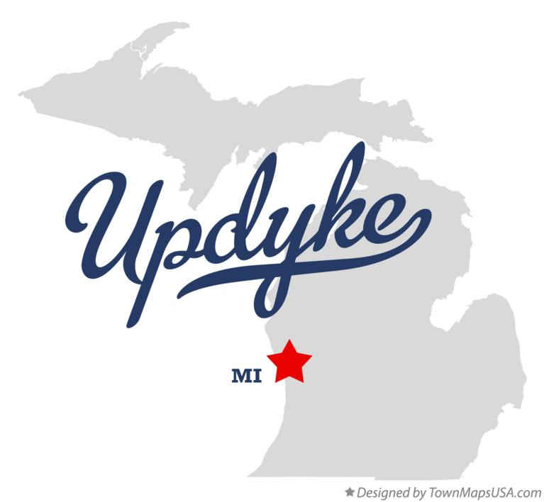 Map of Updyke Michigan MI