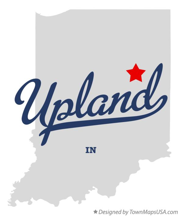 Upland Indiana Map.Map Of Upland In Indiana